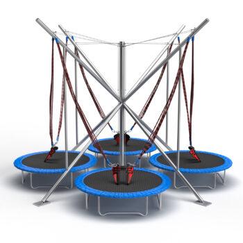 4in1 Eurojumper bungee trampoline park model